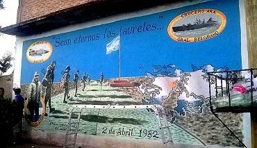 grupo muralista rindi homenaje a los cados con un mural en grand bourg