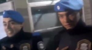 policias quieren ir al baño de ungs y estudiantes de izquierda se lo impiden