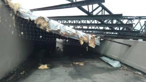 temporal destruyo parte del edificio sin inaugurar