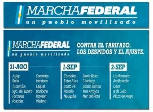 marcha federal cronograma