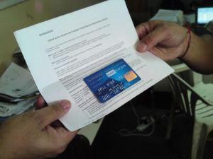tarjeta azul